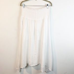 Eileen Fisher Skirts - Eileen Fisher White Linen Asymmetrical Skirt